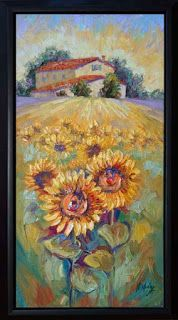 "New ""Bundle of Sunshine"" Sunflower Palette Knife Painting by Niki Gulley"