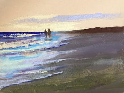 "Contemporary Beach Landscape, ""Beach Walk 9,"" by Amy Whitehouse"