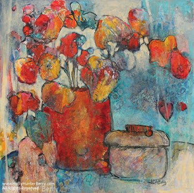 Abstract Still Life Flower Art Painting