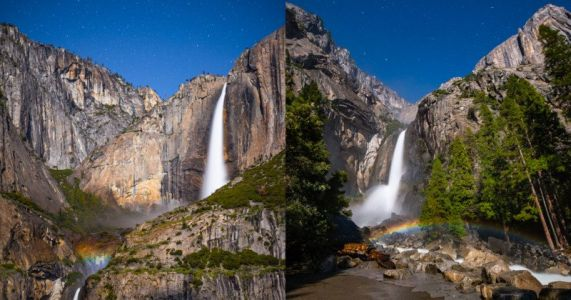 Capturing Rare Yosemite Moonbows in Real-Time Video