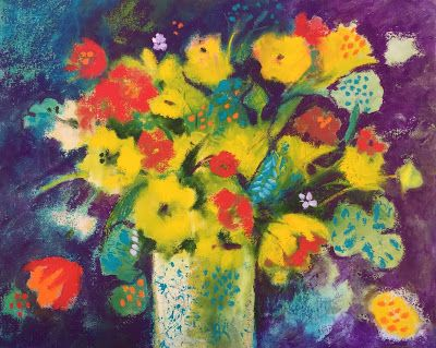 """Contemporary Abstract Floral, """"Floral Explosion,"""" by Amy Whitehouse"""