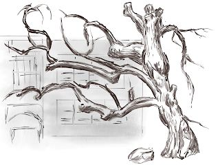 Virtual Sketchcrawl 12 - Winter - Empress Tree