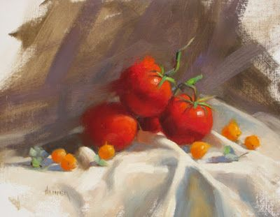 """Tomatoes"" 11in x 14in oil"