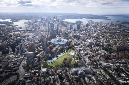 Bates Smart Plans to Suspend a New Sydney Stadium Above the City's Central Station
