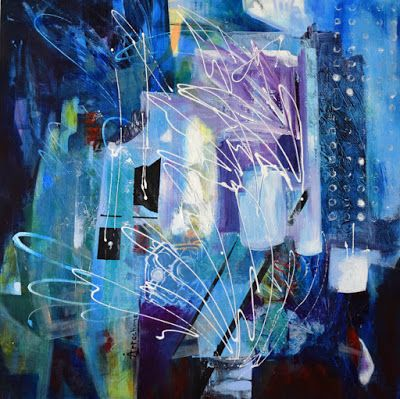 """Abstract Painting, Expressionism, Contemporary Art """"Dynamic Existence"""" by International Contemporary Abstract Artist Arrachme"""