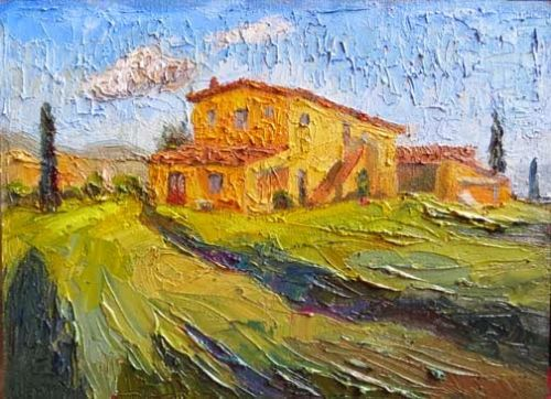 New Tuscany Palette Knife Painting by Texas Artist Niki Gulley
