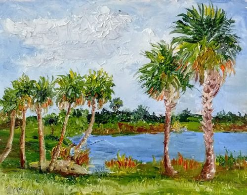 1800 Fishing out at the Preserve, Plein Air