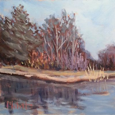 Contemporary Art Friday Walk Nature Preserve Landscape Oil Painting