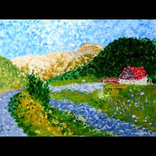 Mark Webster - Untitled Landscape Acrylic Painting - Virtual Paintout Romania