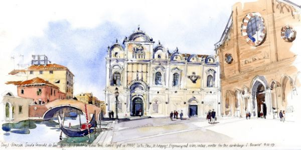Sketching Big: Venice to Croatia, Part 1