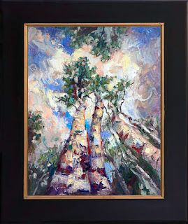 """New """"Three's Company"""" Aspen Painting by Palette Knife Artist Niki Gulley"""