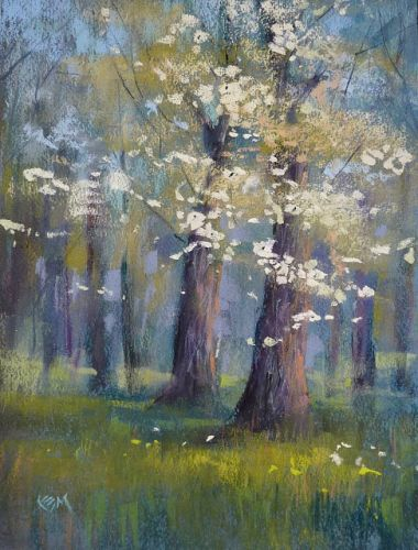 How to Paint a Spring Flowering Tree: New Video