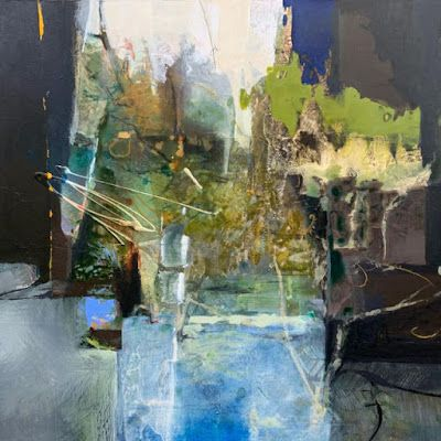 """Contemporary Abstract Landscape Painting """"NOURISHED AND TRIUMPHANT"""" by Intuitive Artist Joan Fullerton"""