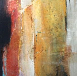 Contemporary Abstract Mixed Media Painting 'Of Magnitude' by Intuitive Artist Joan Fullerton