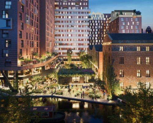 Mecanoo's New KAMPUS Neighborhood Currently Under Construction in Manchester