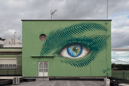 Jorge Rodríguez-Gerada Creates 2 New Murals in Madrid For The UN Climate Conference
