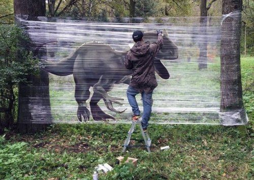 "Cellograffiti Series by Evgeny Ches ""Russian artist Evgeny Ches"