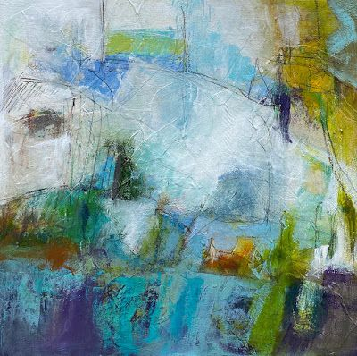 "Abstract Art, Expressionism, Contemporary Painting, Fine Art For Sale ""Interlude"" by Contemporary Artist Liz Thoresen"