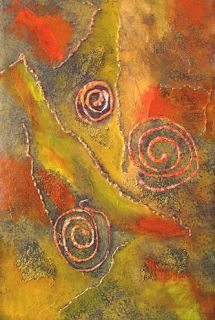 "Original Contemporary Abstract Mixed Media Painting ""Journey"" Painting by Contemporary Arizona Artist Pat Stacy"