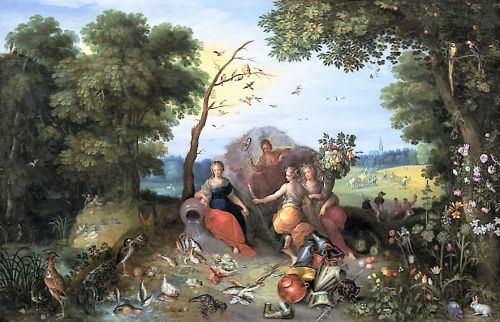 1636 Spring & Cherubs by Jan Brueghel the Younger 1601-1678 & Frans Francken the Younger 1581-1642
