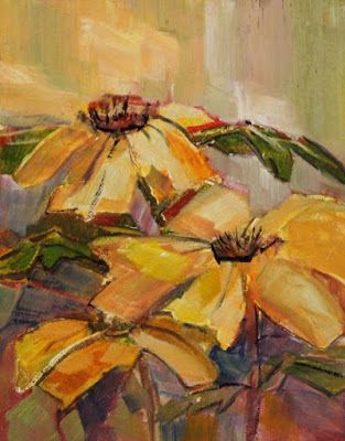 """Sunflower Painting, Impressionist Floral, Fine Art Oil Painting,""""Wild Sunflowers"""" by Colorado Contemporary Fine Artist Jody Ahrens"""