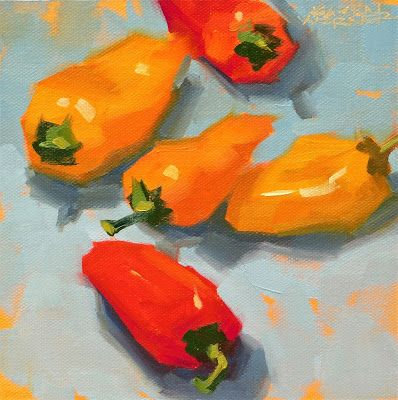 Peppers On Blue