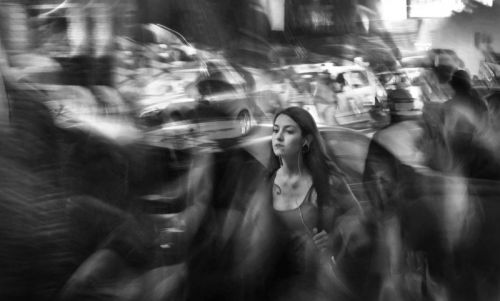 Long-Exposure Street Photos of People in the Flow of the City