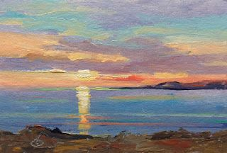 SHIMMERING SUNSET by TOM BROWN