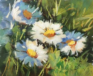 HOW I PAINTED THESE DAISIES by TOM BROWN
