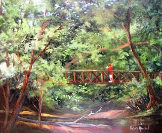 Bird Watcher in Big Thicket, oils canvas,Barbara Haviland