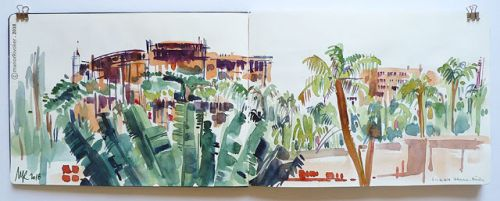 My first steps and watercolor brushstrokes in Benin, Africa