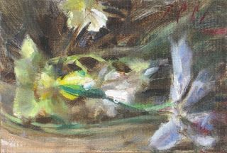 """Spring flowers"" still life oil painting"