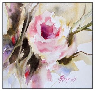 Divine..Watercolor.Texas Artist.Rae Andrews