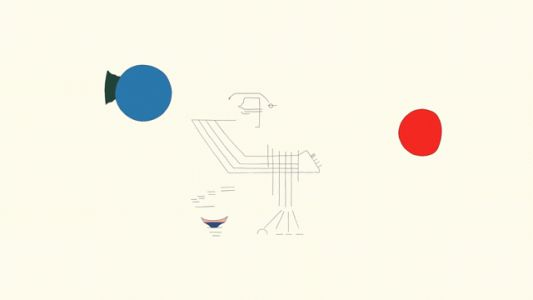 A Relaxing Animation Bursts Into Color as it Morphs Through Abstract Line Drawings