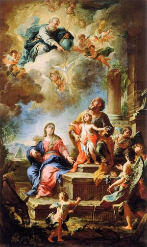 Madonnas attributed to Martino Altomonte Austrian-born Italian painter, 1657-1745