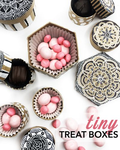 Tiny treat boxes
