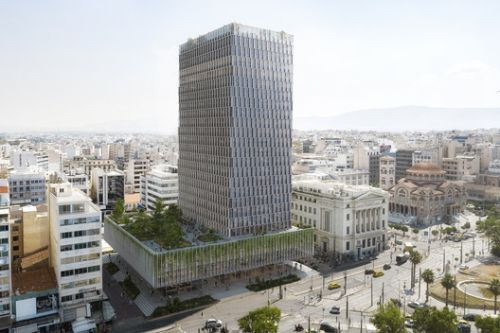 PILA Selected to Redesign the Facade of the Abandoned Piraeus Tower in Greece