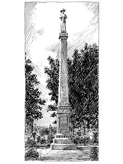 Historic Franklin Tennessee Pen and Ink Drawings