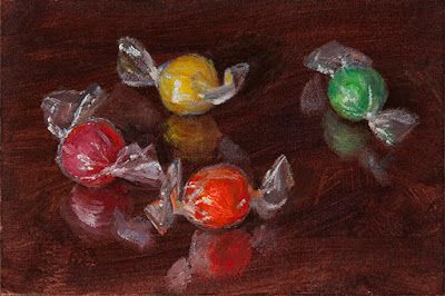Hard candy small painting a day
