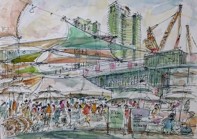Sketches at Under Stand Avenue, Seoul