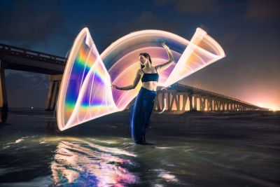 Rainbow Light Painting Photos with a DIY Reflective Tube