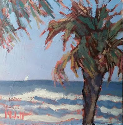 Oceanview Beach Art Original Oil Painting Heidi Malott
