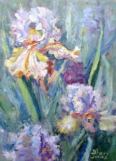 Frilly Flowers, New Contemporary Landscape Painting by Sheri Jones