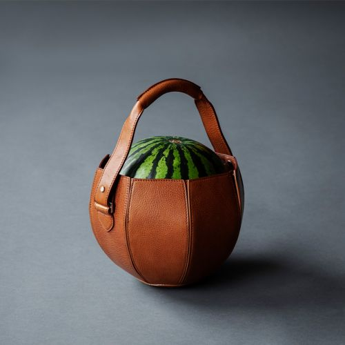 Tote Around Exactly One Watermelon in This Elegant, Leather Bag