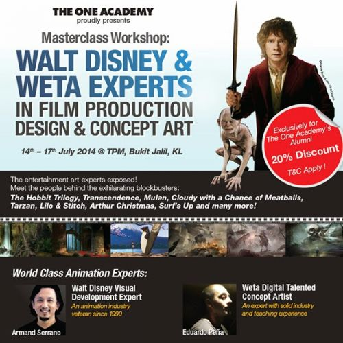 Film Production Design and Concept Art Masterclass in Kuala Lumpur