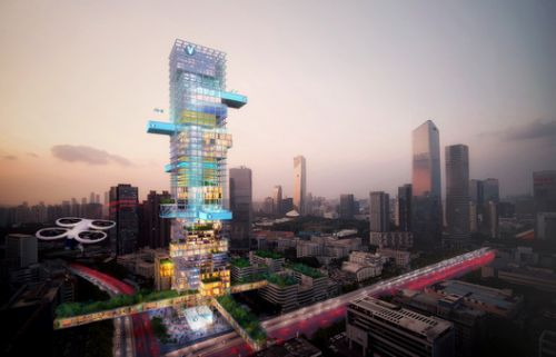 MVRDV and Airbus Integrate Air Mobility into Urban Environments