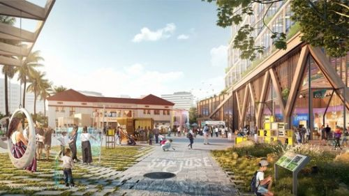 """Google Releases 80-Acre """"Downtown West"""" Campus Plan for San Jose"""