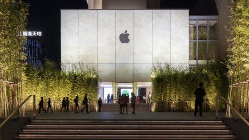 Stone, Glass, and Bamboo Meet in Foster + Partners' Recently-Opened Apple Store in Macau