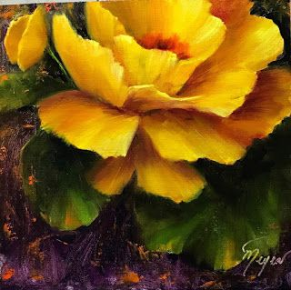 Yellow Rose by artist Pat Meyer
