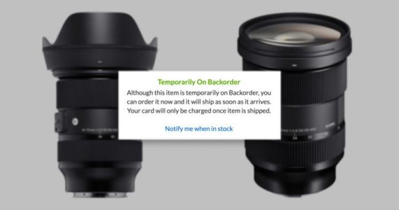 Sigma Overwhelmed by E-Mount 24-70mm f/2.8 Preorders, Apologizes for Possible Delays